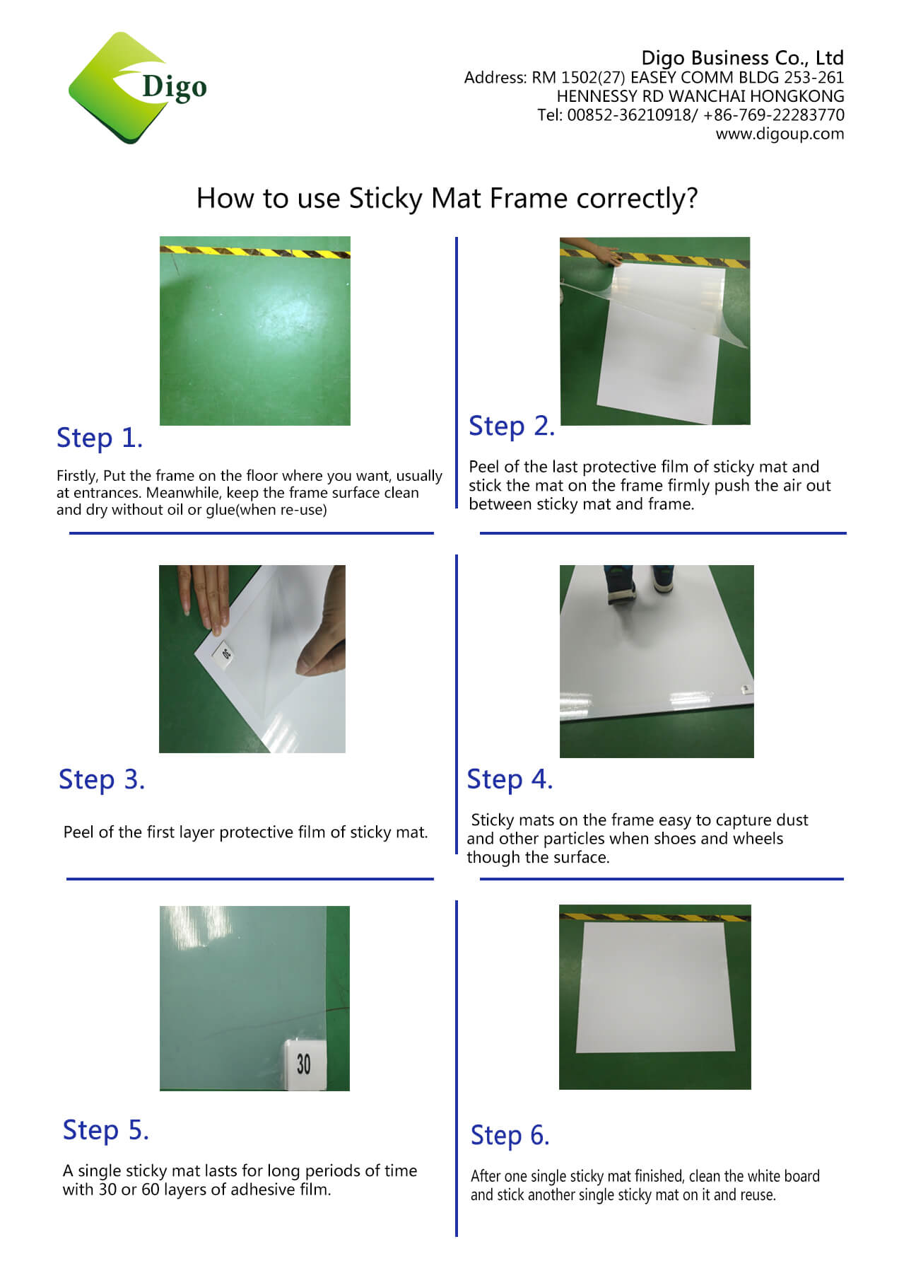 Sticky mat Frame Instruction|